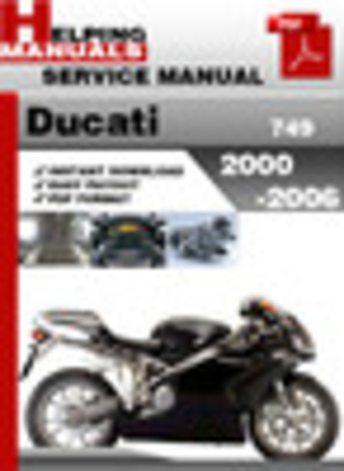 Product picture Ducati 749 2000-2006 Service Repair Manual Download